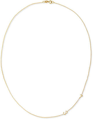 Maya Brenner Designs Mini 2-Number Necklace, Yellow Gold
