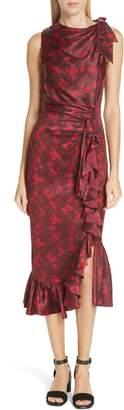 Cinq à Sept Nanon Floral Print Silk Midi Dress