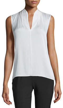 Elie Tahari Judith Sleeveless Silk Blouse
