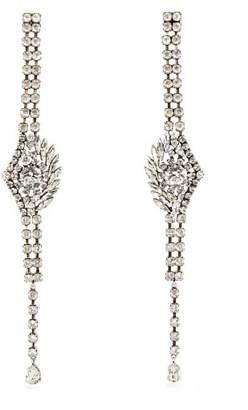Sonia Rykiel Oversized Crystal Embellished Earrings - Womens - Silver