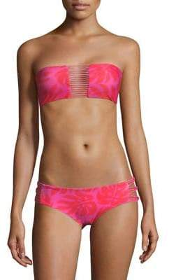 Mikoh Swimwear Sunset Bandeau Bikini Top
