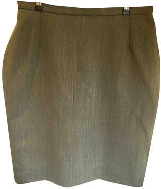 Georges Rech Khaki Wool Skirt for Women Vintage
