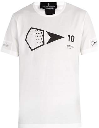 Stone Island Shadow Project - Shadow Project Cotton Jersey T Shirt - Mens - White