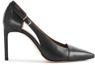 Reiss HALLEY Buckle Detail Pointed Heels Black