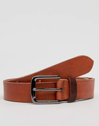 Esprit Leather Jeans Belt In Tan
