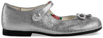 Gucci Children's glitter ballet flat with bow
