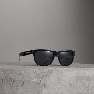 Burberry Doodle Square Frame Sunglasses