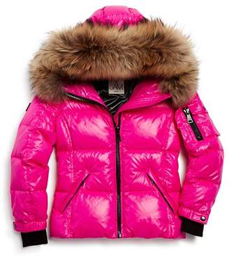 SAM. Girls' Blake Fur-Trimmed Down Jacket - Little Kid
