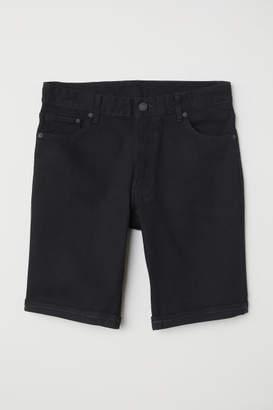 H&M Denim Shorts Slim fit - Black