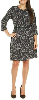 Dex Floral Crochet Trim Dress