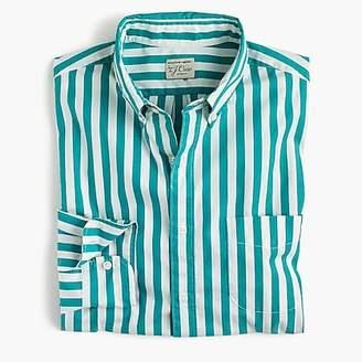 J.Crew Stretch Secret Wash shirt in turquoise stripe