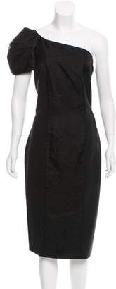 Fendi One Shoulder Midi Dress