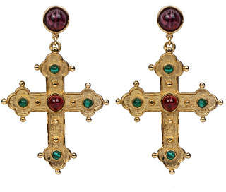 Ben-Amun Multicolor Cross Dangle Earrings