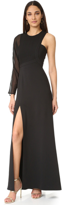 BCBGMAXAZRIA One Shoulder Gown $398 thestylecure.com