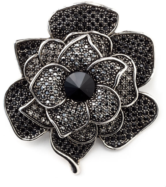 Cara Accessories Crystal Flower Pin