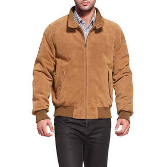 Asstd National Brand Wwii Suede Leather Suede Bomber Jacket Tall