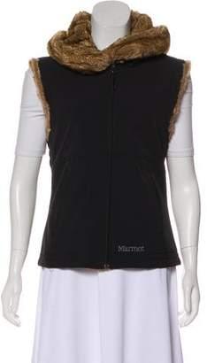 Marmot Fur-Trimmed Hooded Vest