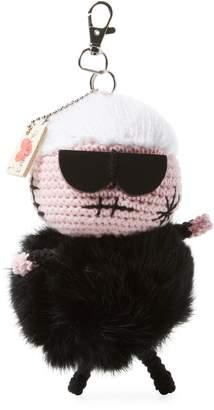 Mua Mua Dolls Women's Karl Fur Key Chain