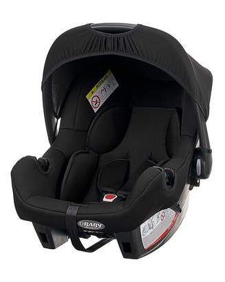 O Baby Obaby Zeal 0+ Car Seat with adapters