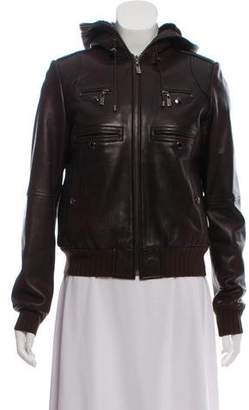 KORS Fur-Lined Leather Jacket