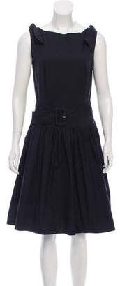 Prada Belted Sleeveless Dress