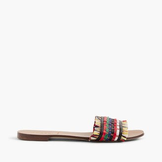 Raffia slide sandals $88 thestylecure.com
