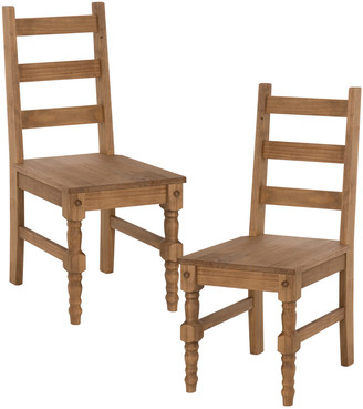 Manhattan Comfort Jay Set Of 2 Solid Wood Dining Chairs