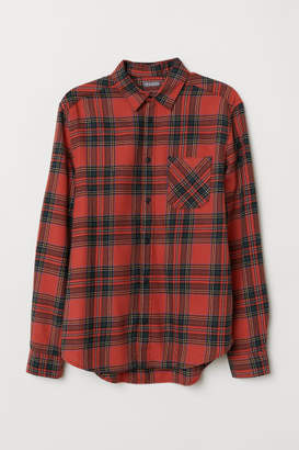 H&M Plaid Flannel Shirt - Red