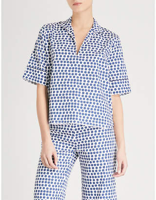 Bodas Siena cotton short-sleeved pyjama shirt