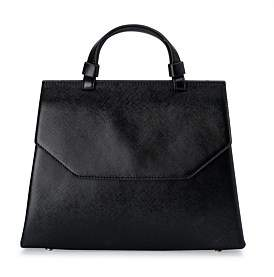 Olga Berg Tala Saffiano Top Handle