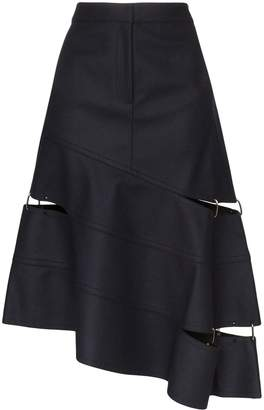 Tibi asymmetric cut-out skirt