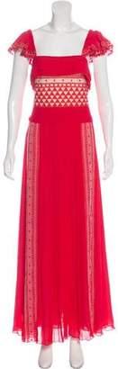 Philosophy di Lorenzo Serafini Cap Sleeve Maxi Dress