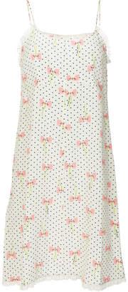 Miu Miu polka dot bow print dress