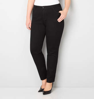 Avenue Butter Denim Skinny Jean in Black 28-32