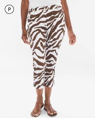 Petite Comfort Waist Luxe Utility Zebra Crops