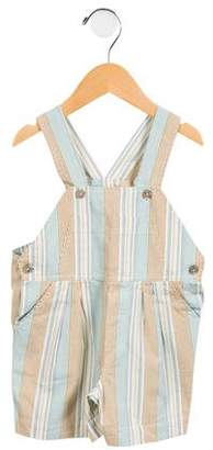 Papo d'Anjo Boys' Pleated Striped Overalls
