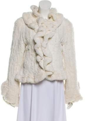 Fur Knitted Rabbit Fur Jacket