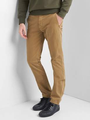 Gap Vintage Wash Khakis in Skinny Fit with GapFlex