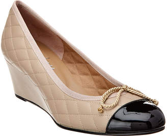 French Sole Redgrave Leather Wedge