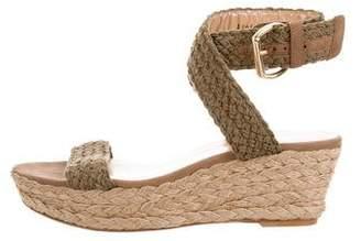 Stuart Weitzman Braided Wedge Sandals