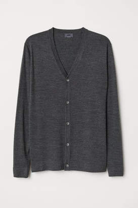 H&M Merino Wool Cardigan - Gray
