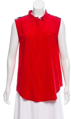 Band Of Outsiders Silk Sleeveless Top
