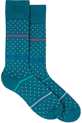 Paul Smith Men's Striped & Dotted Mid-Calf Socks $30 thestylecure.com
