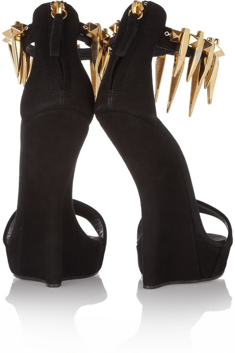 Giuseppe Zanotti Spiked suede wedge sandals
