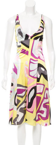 Emilio Pucci Emilio Pucci Silk Abstract Print Dress