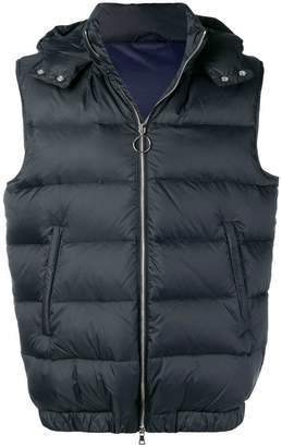 Eleventy sleeveless padded jacket