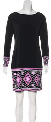 MICHAEL Michael Kors Printed Long Sleeve Dress