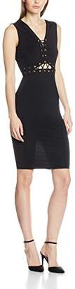 Jane Norman Women's Lace Up Bodycon Dress, (Black)