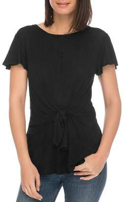 Bobeau B Collection by Rylee Tie-Front Tee