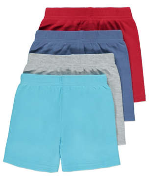 George 4 Pack Assorted Jersey Shorts